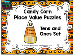 Candy Corn Place Value Puzzles: Tens and Ones Set