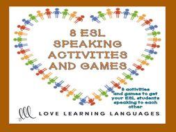 ESL Speaking Activities, Games and Ice Breakers
