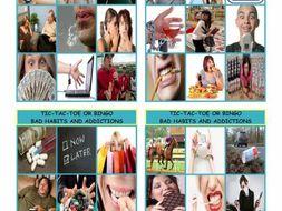 Bad Habits and Addictions Tic-Tac-Toe or Bingo
