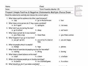 Simple present examples negative desconto mix