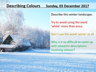 creative writing winter creative writing by lead practitioner  descriptive writing winter colours