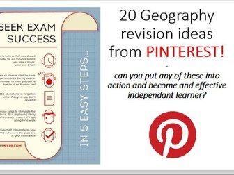 20 GCSE Geography revision ideas from Pinterest
