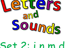 phonics phase 2 letters and sounds set1satp