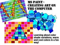 ms paint lesson creating shapes with color variations by