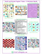 Health and Personal Hygiene 7 Game Plus 2 Worksheet Bundle