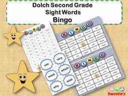 Dolch Sight Words Bingo - Second Grade