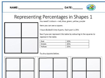 Representing Percentages in Shapes Pack