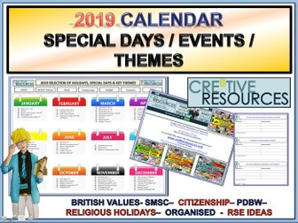 2019 Tutor Time, Special Days Holidays