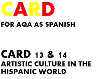 SPEAKING CARDS 13 & 14 for AQA AS SPANISH (new specification)