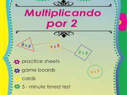 Multiplicando Por 2 - Spanish Multiplication Math Games and Lesson Plans