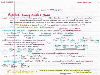 OCR A Level Chemistry Acids, Bases & pH Revision Poster