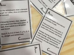 180 iGCSE revision cards or ice breaker cards for Economics and maybe iAS level