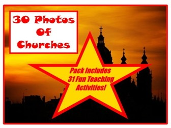 30 Church Photos From Around The World PowerPoint + 31 Fun Teaching Activities For These Cards