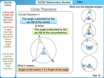 iGCSE Booklet - Circle Theorems