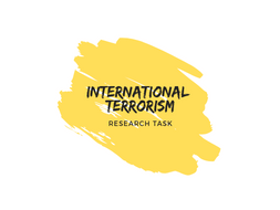 International Terrorism 2018 (Resource can be used with pupils aged 12-16)