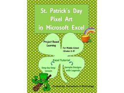 St. Patrick's Day Pixel Art in Microsoft Excel