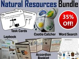 Natural Resources Task Cards and Activities Bundle