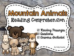 Mountain Animals Reading Comprehension
