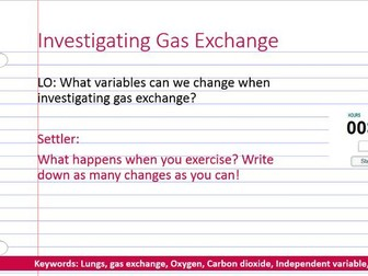 Investigating gas exchange