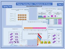 Year 3 - Editable Multiplication and Division Fluency Slides - Spring Term - White Rose Style