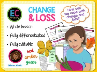 Change, grief + loss PSHE