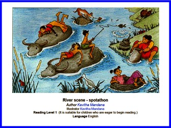 Can you spot it? River Scene - Reading Level 1 - Fun English Game