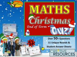 Maths Christmas Quiz / End of Term 2019