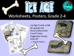 Ice Age, Worksheets & Posters