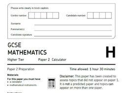 "AQA GCSE Maths Higher ""Predicted"" Paper 2 (2019) - Paper A"