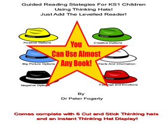 KS1 Guided Reading Thinking Hat Worksheets, Cut Out Hats And Thinking Hats Guided Reading Display
