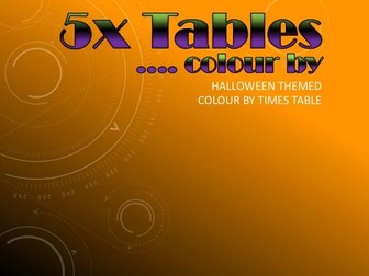*HALLOWEEN* Colour by 5x Tables