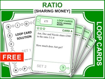 Ratio: Sharing Money (Loop Cards)