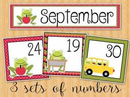 September Calendar Cards