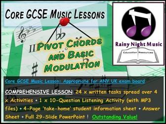 GCSE Music MODULATION and PIVOT CHORDS