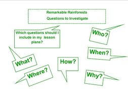 Remarkable Rainforests Questions to Investigate