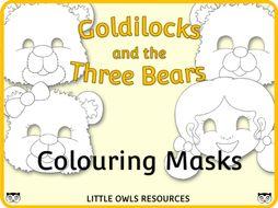 Goldilocks and the Three Bears - Colouring Masks