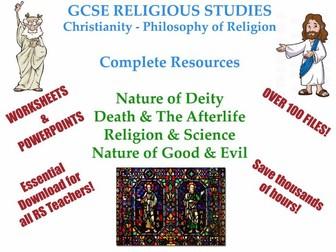 GCSE- Philosophy of Religion -Christianity & Humanism [4 Whole Units: 100+ Files!]
