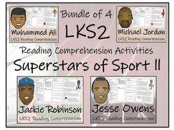 LKS2 Literacy - Historical Superstars of Sport Bundle of Reading Comprehension Activities