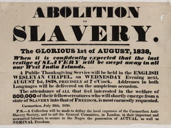 abolition of slavery in america essay Abolitionists in the 1800s history essay  the establishment of the american anti-slavery movement  became involved with abolition and anti-slavery movements .