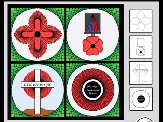 Poppy Art – ANZAC Day, Remembrance Day, Memorial Day, Armistice Day, etc  (Design A)
