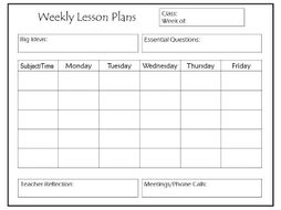daily and weekly lesson plan templates by thebloomingmind2