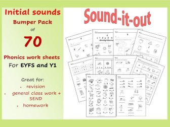 Initial Sounds Phonic Worksheets for Reception/Special Needs