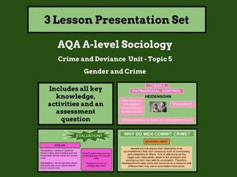 Gender and Crime - AQA A-level Sociology - Crime and Deviance Unit - Topic 5