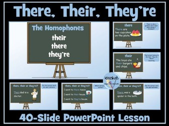 Homophones: Their, There and They're