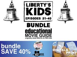 Liberty's Kids - BUNDLE - Episodes 21 - 40 Movie Guide | Worksheet