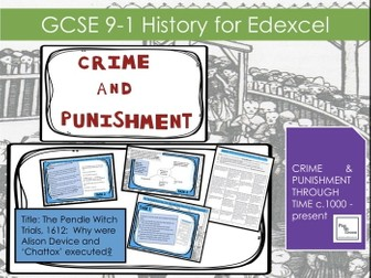 Edexcel GCSE 9-1 Crime and Punishment Lesson 10:  The Pendle Witch Trials casestudy