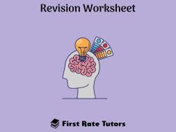 Cognitive Psychology Revision Worksheet