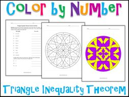Triangle Inequality Theorem Color By Number By Charlotte James615