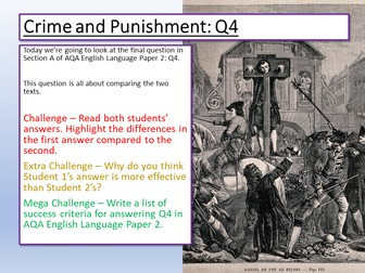 English Language Paper 2 Section A Resources