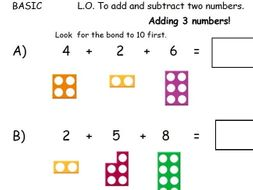 Adding 3 numbers with Numicon